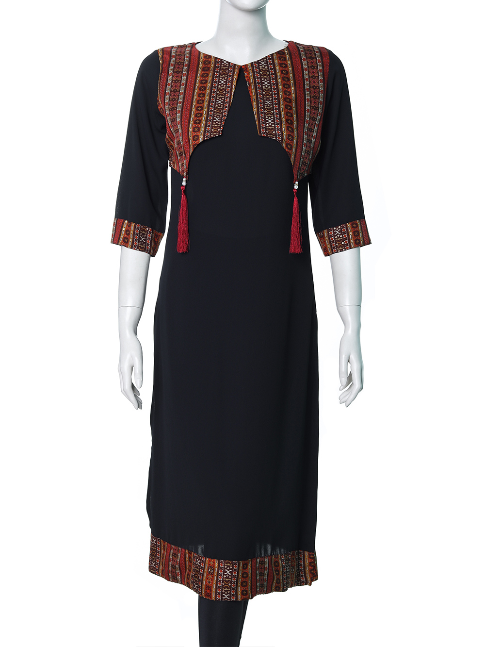 LADIES ETHNIC MID LENGTH KURTI